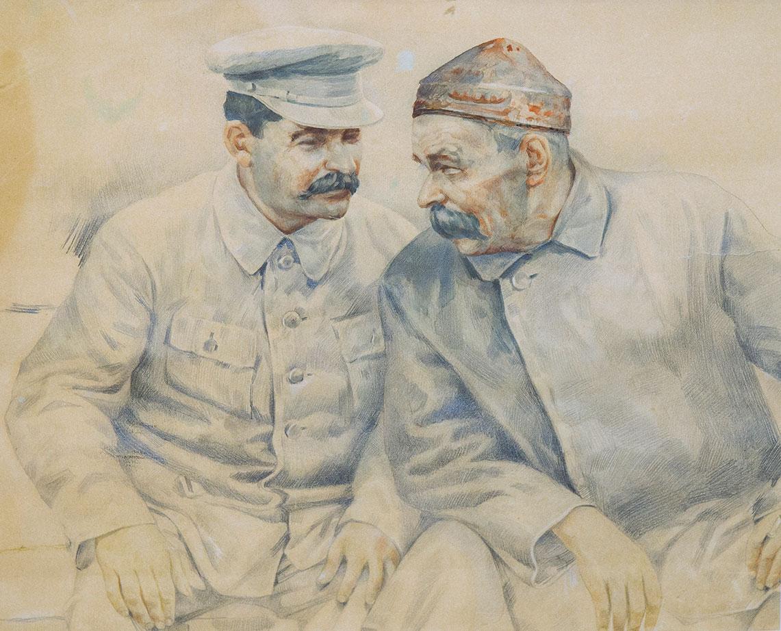 И.В.Сталин и А.М.Горький.