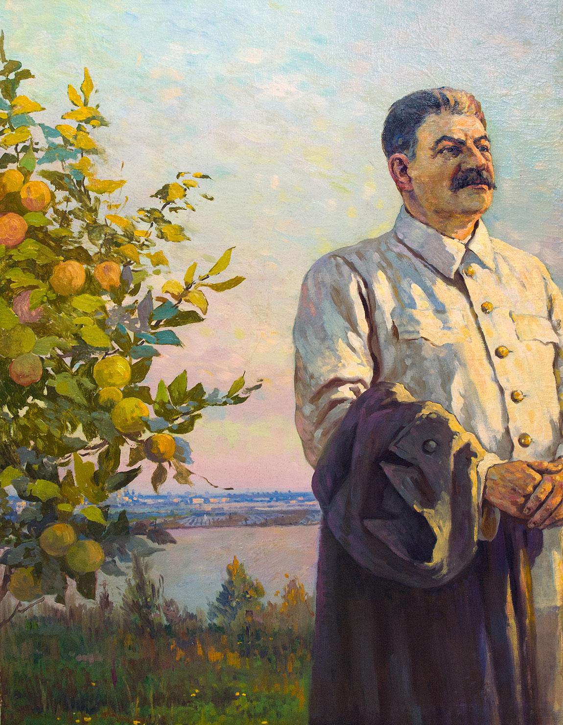 Портрет И.В.Сталина.