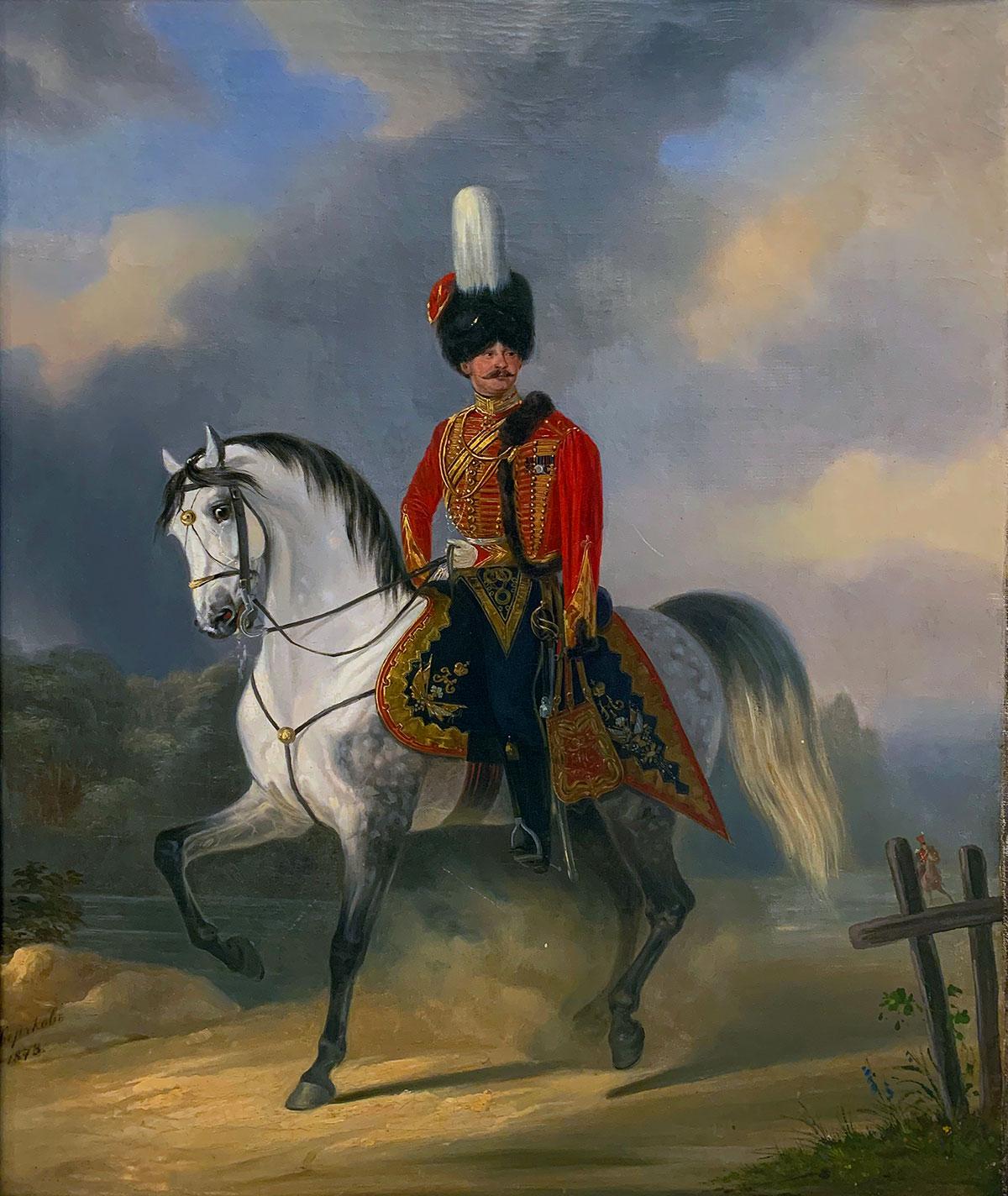 Портрет офицера Лейб-Гвардии Гусарского полка.