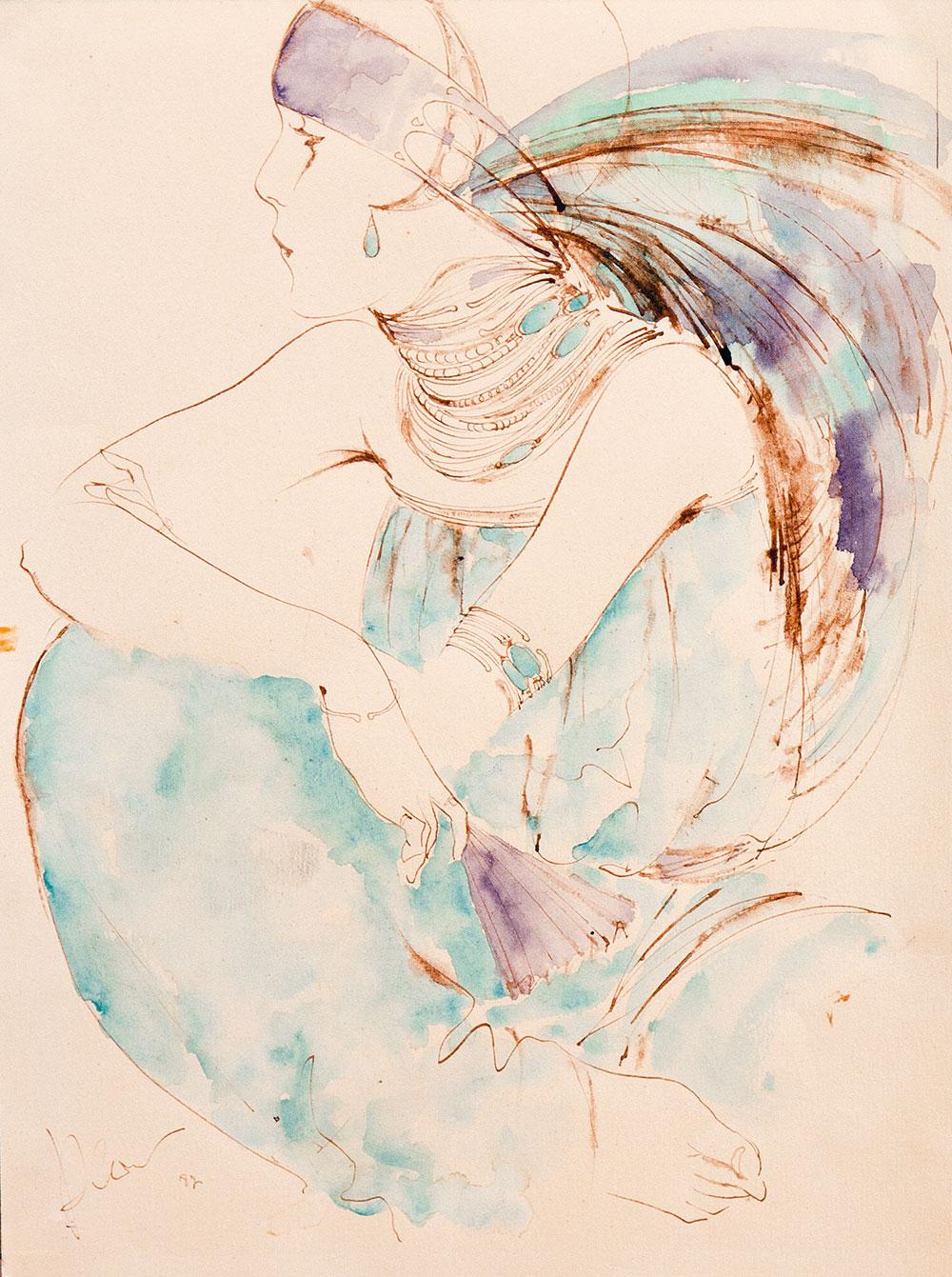 Девушка с перьями.