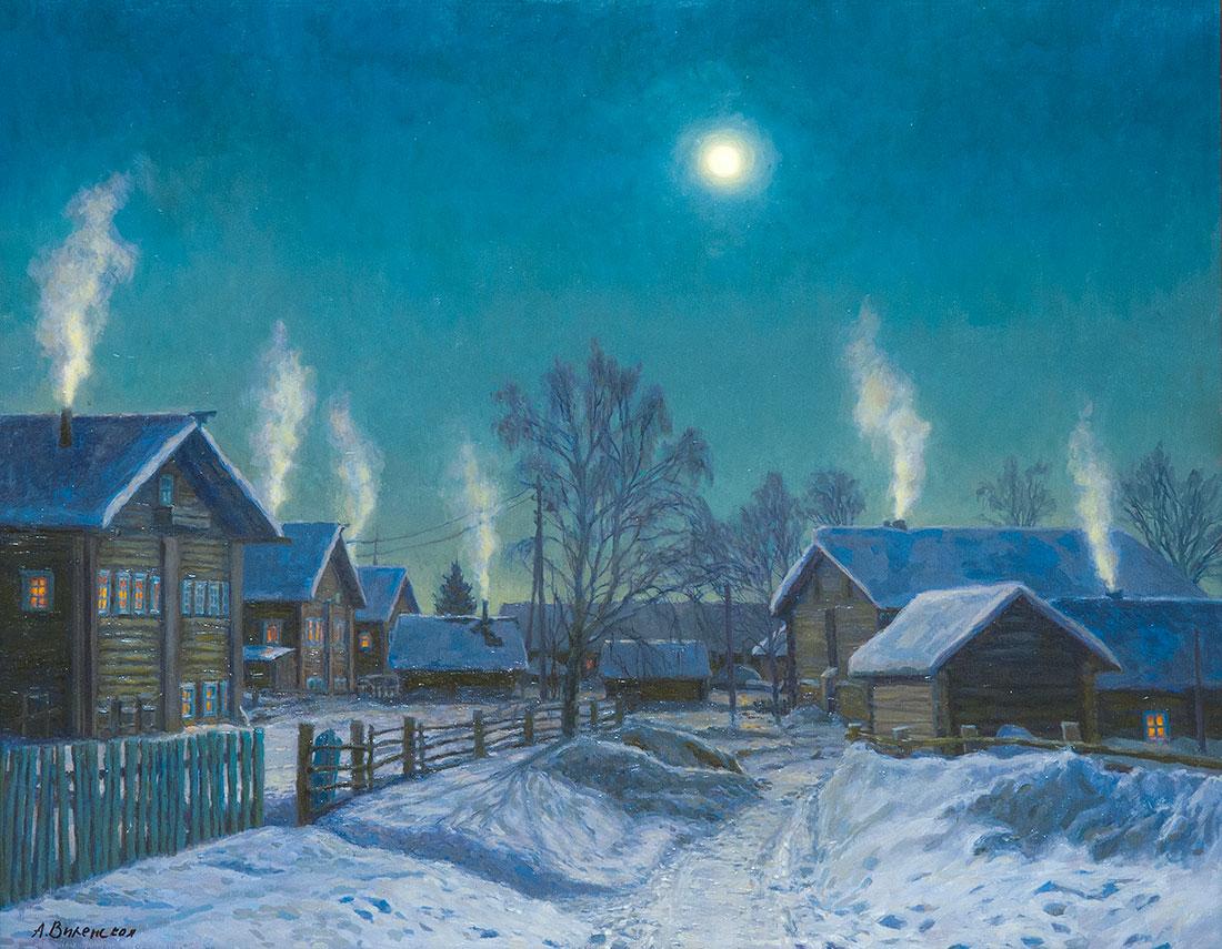 Морозная ночь. Кимжа.