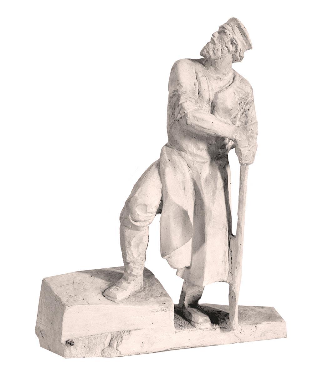 Рабочий. Скульптурная часть проекта «Мемориал строителям Волховстроя».