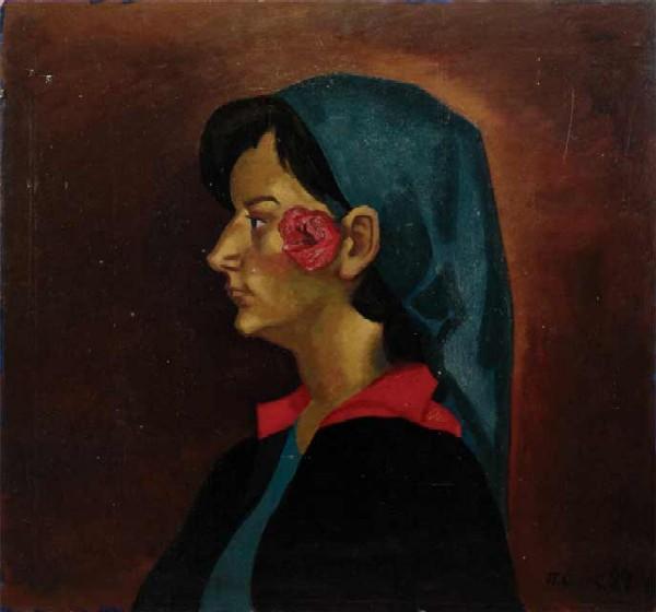 Диптих Славяне: 1)Болгарин из Тырнова. 2)Девушка с розой.