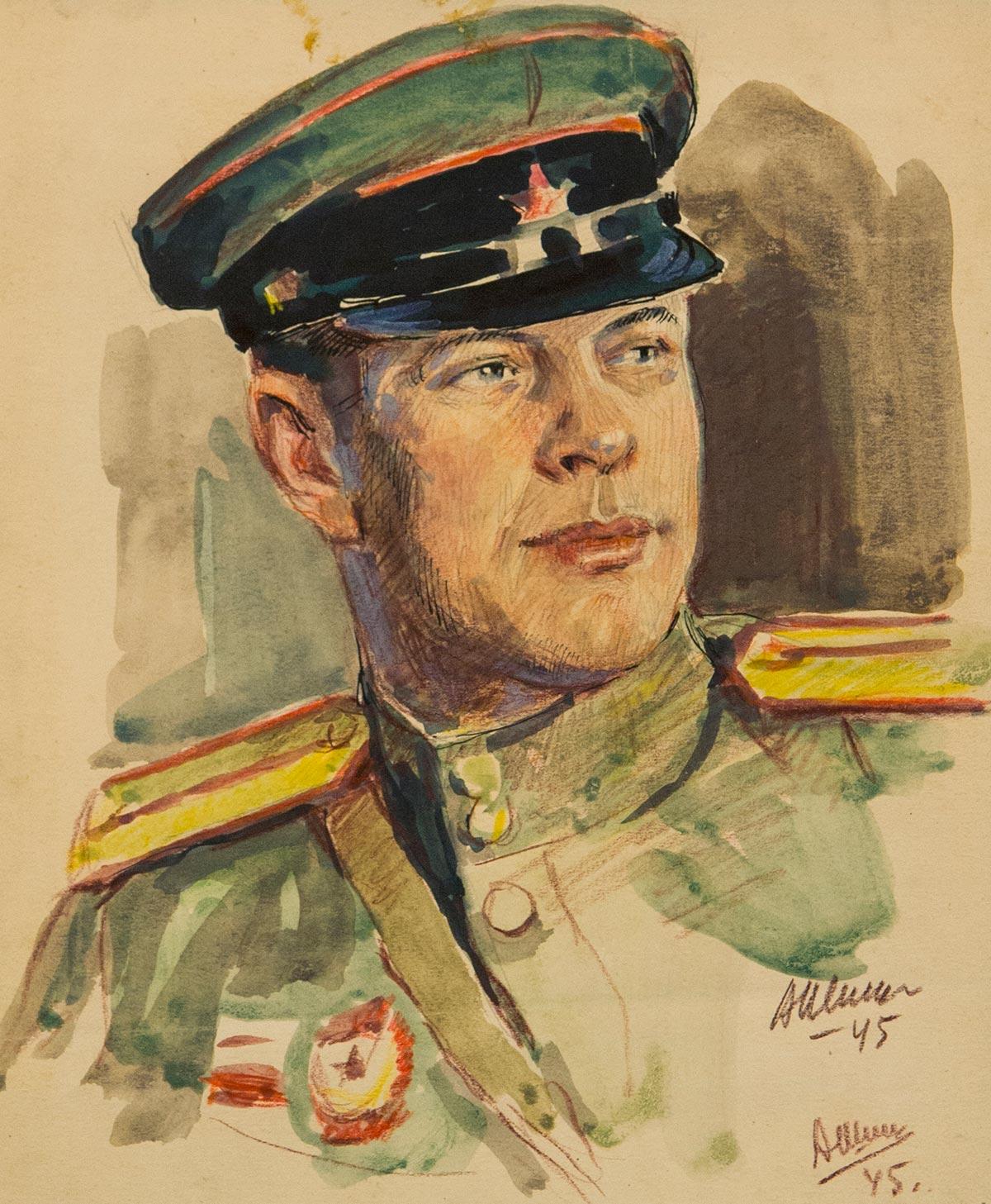 Портрет военного.