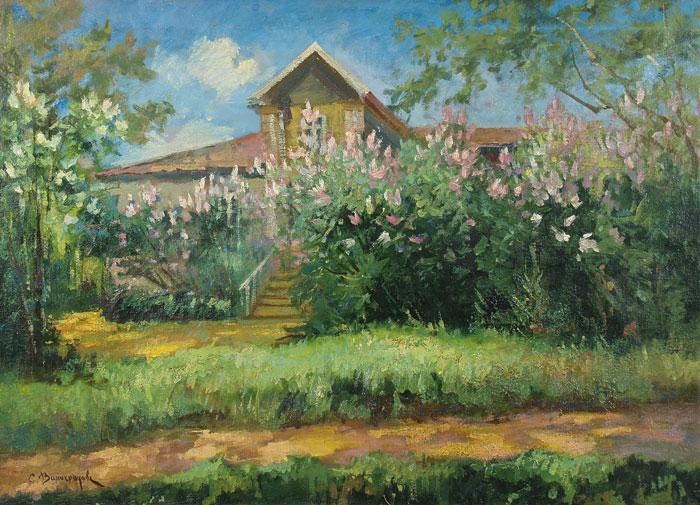 Дом в саду. Купить работы автора – Виноградов Сергей Арсеньевич