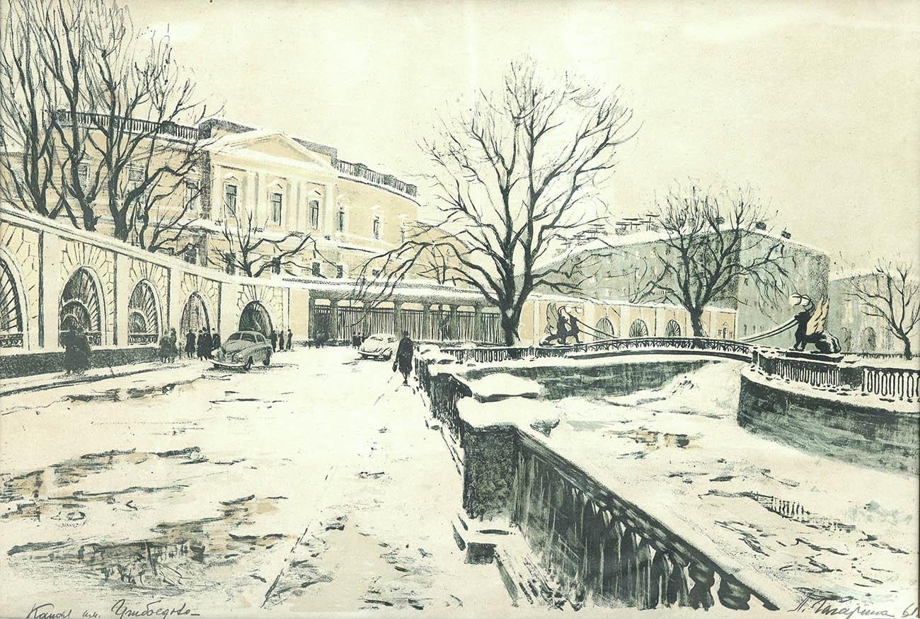 Канал им. Грибоедова. Вид на Банковский мостик.