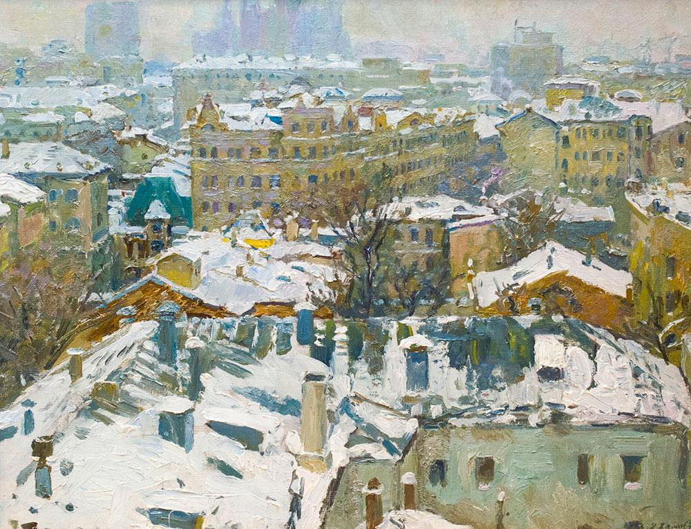 Москва. Оттепель.