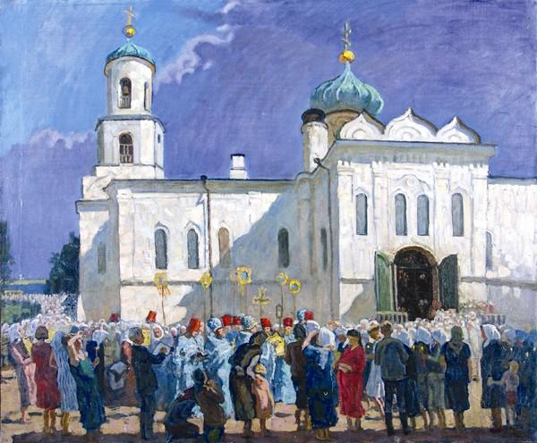 Празднование тысячелетия Крещения Руси в Вышнем Волочке.