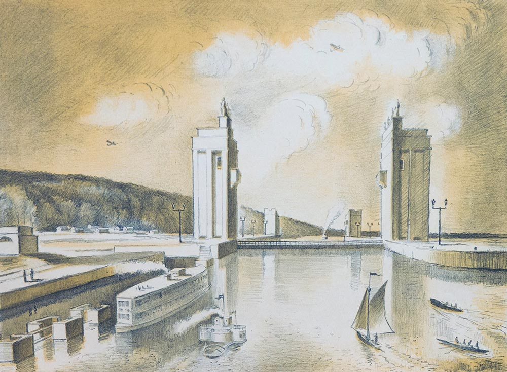 Канал Волга-Москва. У входа в шлюз.