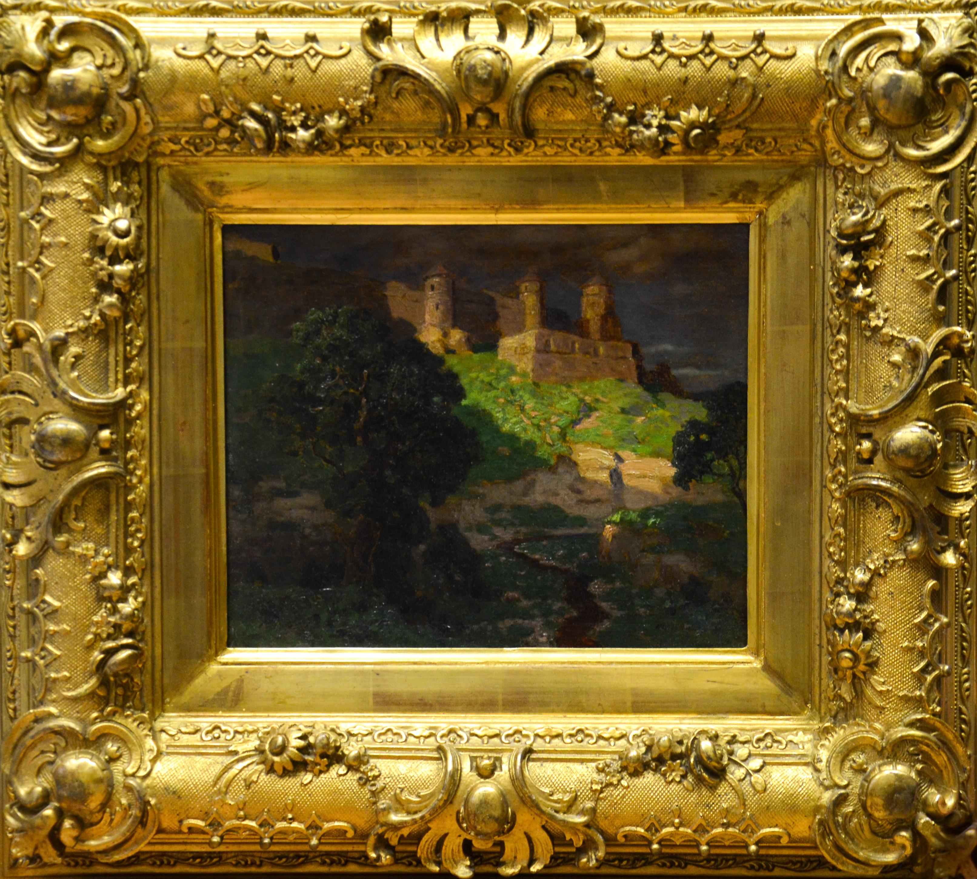 Пейзаж с крепостью.