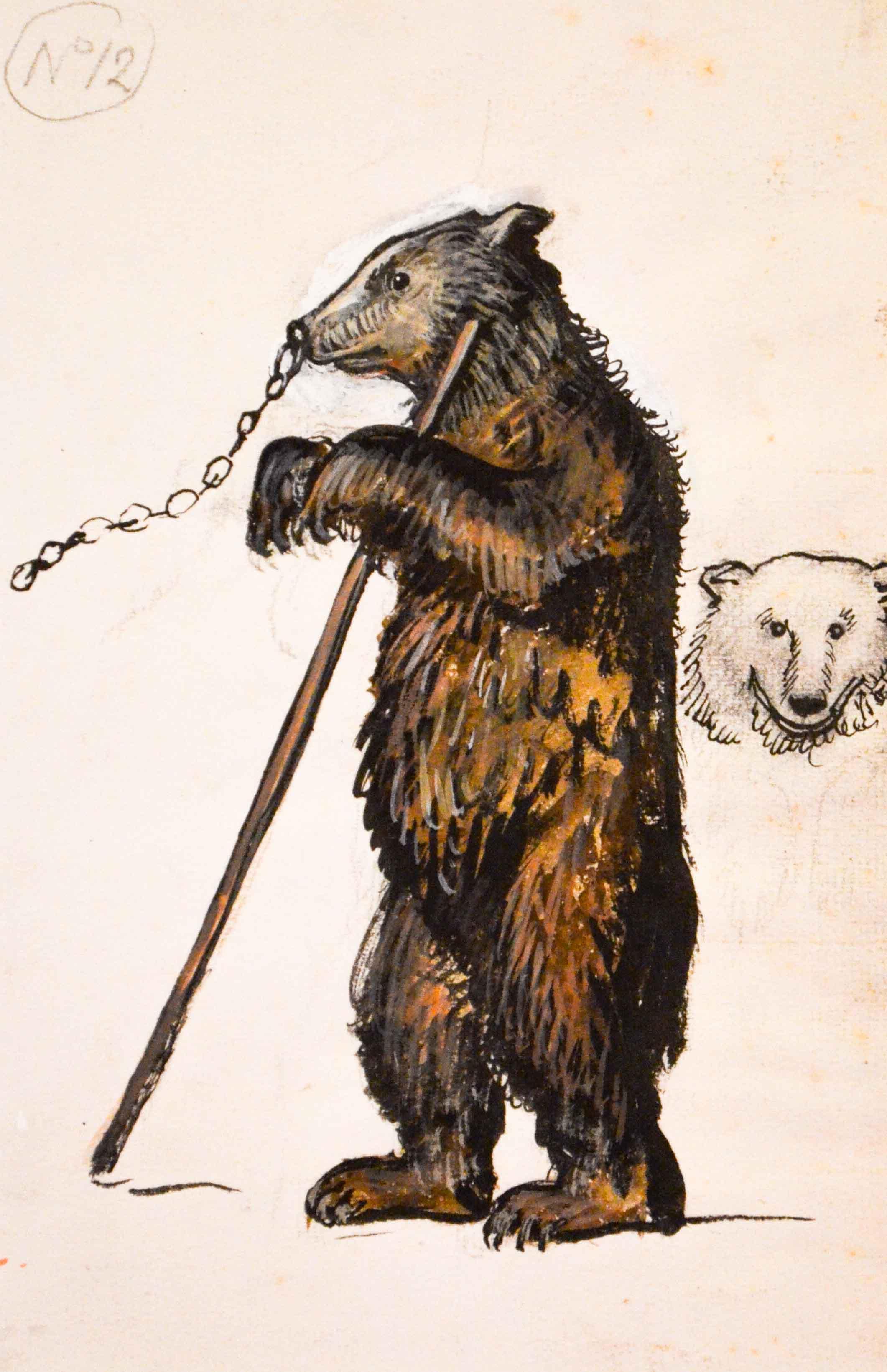 Медведь. Эскиз к театральной постановке