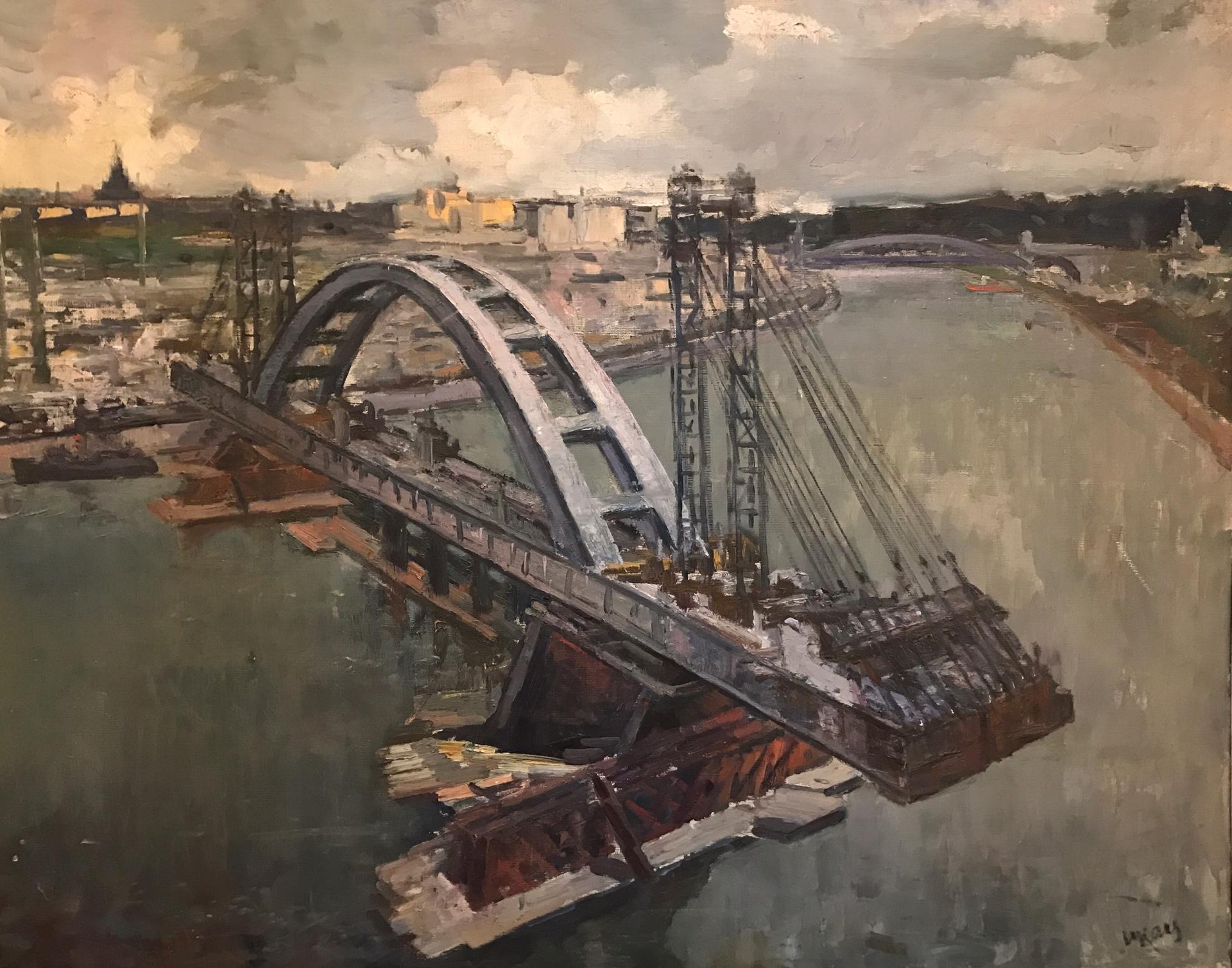Мост на понтонах. Лужники.