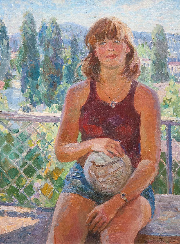 Девушка с мячом.