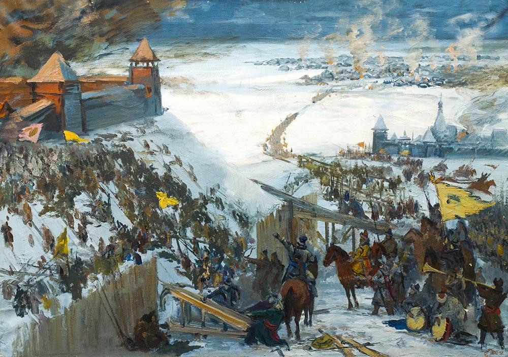 Оборона Владимира от полчищ хана Батыя в 1238 г.