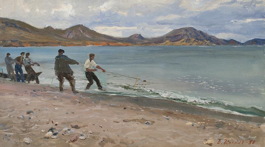 Рыбаки в Коктебеле.