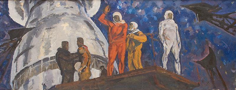 Космонавты.