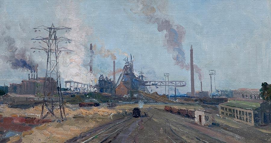 Заводской пейзаж.