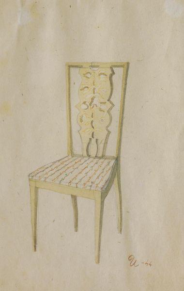 Стул. Эскиз мебели для гостиницы