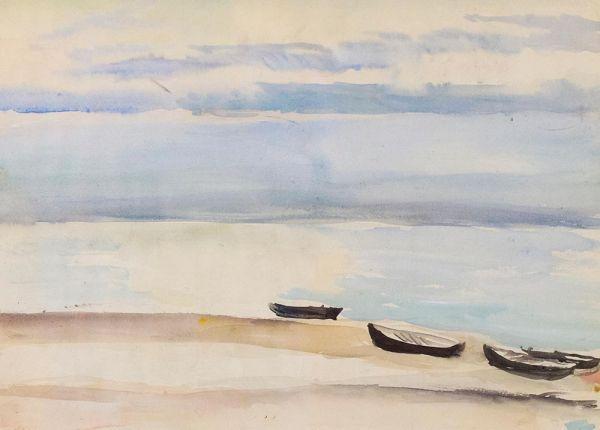 Дзинтари. Лодки на пляже.