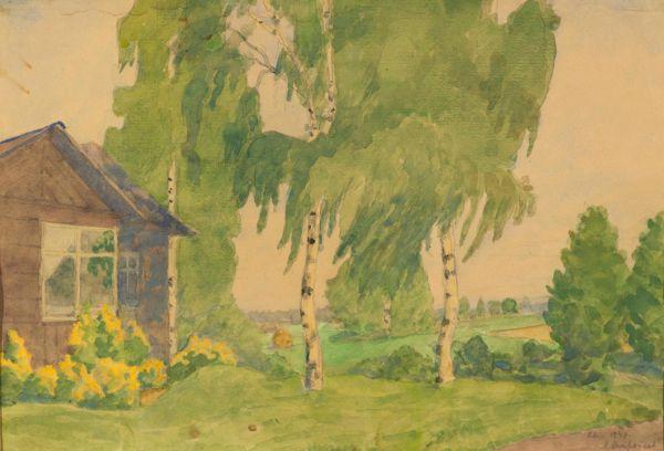 Дачный пейзаж.