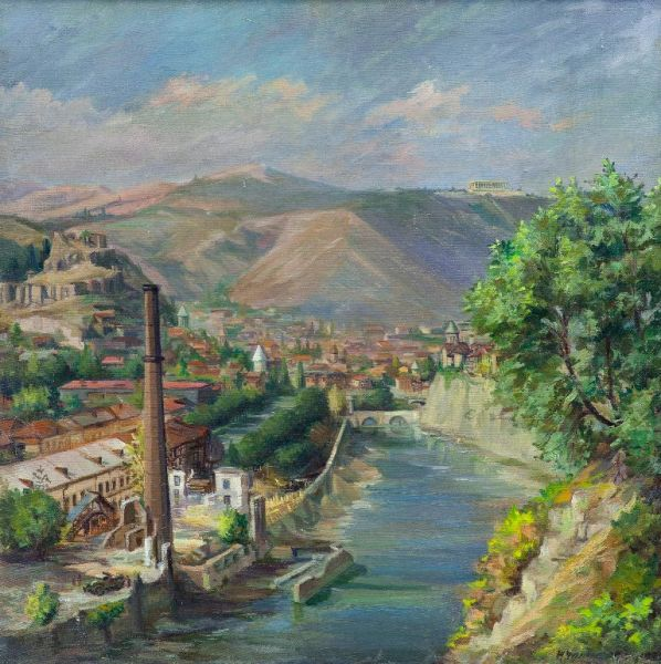 Строительство набережной Тбилиси. Район Орхеви.
