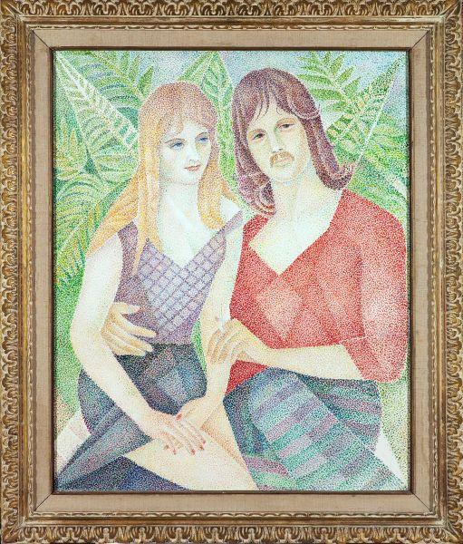 Портрет Дэвида Ходжа и его подруги.