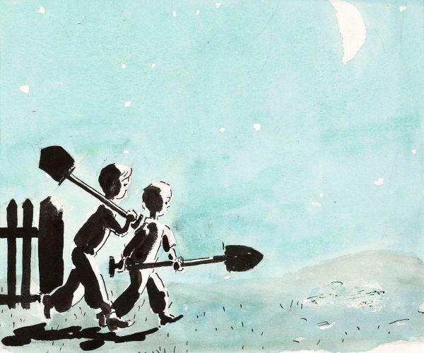 Кладоискатели. Иллюстрации к повести Н. Носова «Витя Малеев в школе и дома».