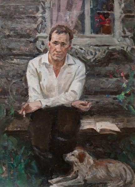 Портрет В.М. Шукшина.