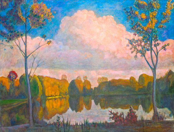Пейзаж с облаком.