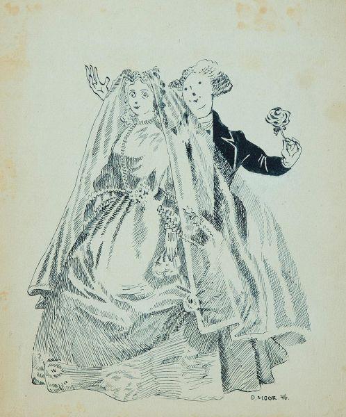 Невеста. Иллюстрация к рассказу М. Твена