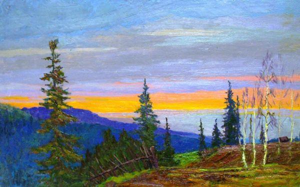 Закат на Чусовой.