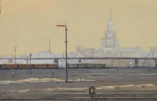 Вид на высотку. Московская окружная дорога.