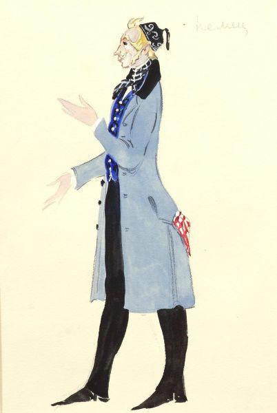 Эскиз костюма немца к балету И.И. Шварца