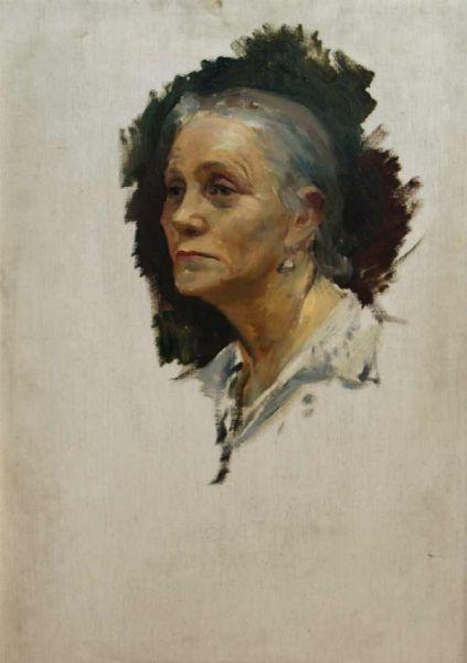 Портрет пожилой женщины.