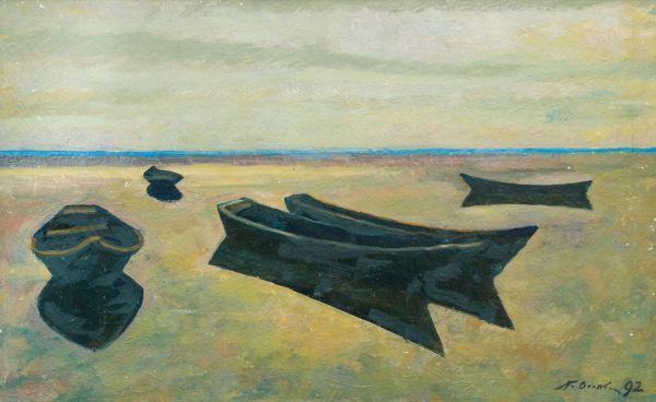 Лодки.