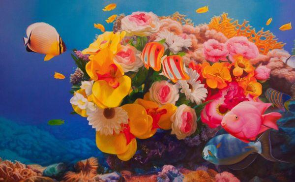 Искусственные сады Большого Барьерного рифа.