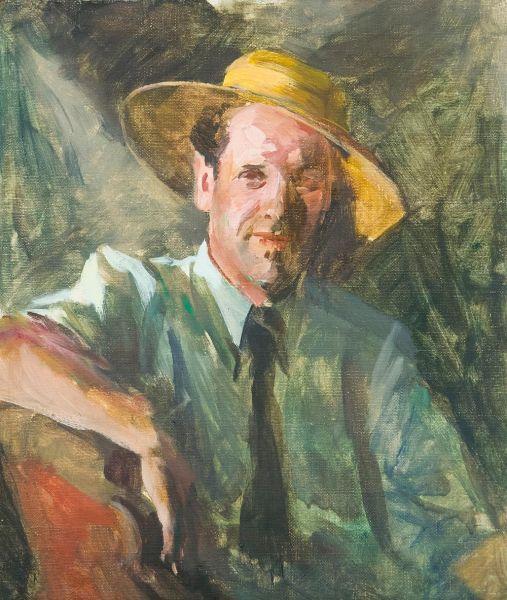 Автопортрет в соломенной шляпе.
