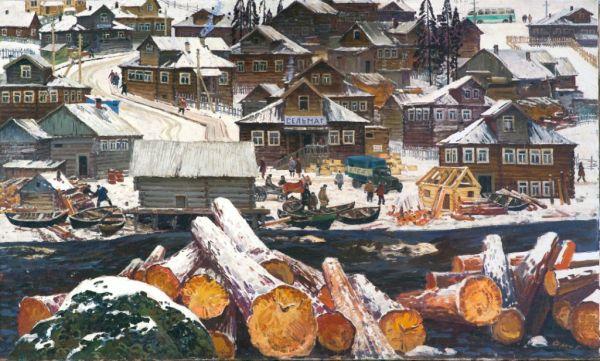 Северная деревня.