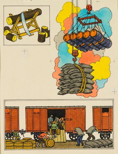 Башня, которая строит башни. Иллюстрация к книге А. Валентинова