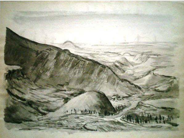 Кавказкие горы.