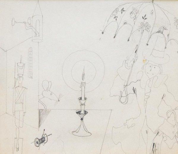 У свечи. Иллюстрация к сказке Г.Х. Андерсена