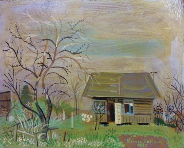 Пейзаж Дачный домик.