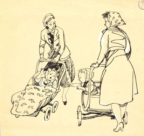 Встреча. Иллюстрация к сборнику А. Барто