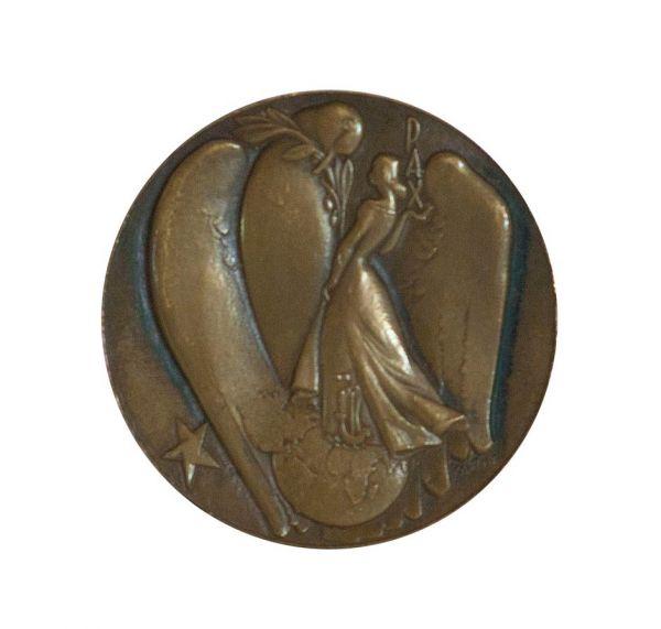 Памятная  медаль Парижской Мирной конференции 1946 года. Эскиз П. Пикассо.
