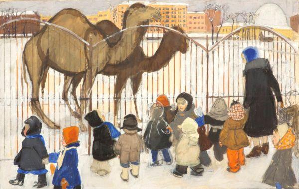 Верблюды. Из серии