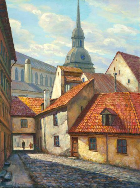 Старая улочка в Риге.