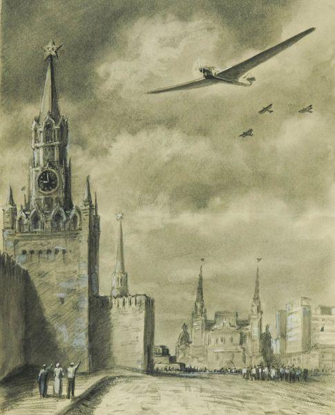 Авиационный парад на Красной площади.