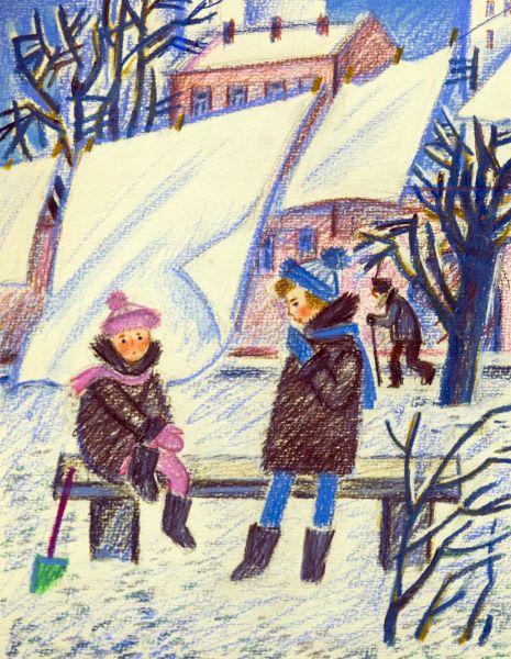 Сестры. Иллюстрация к книге Г.З. Глушнева