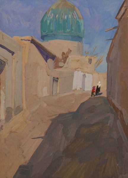 Улочка с мечетью.