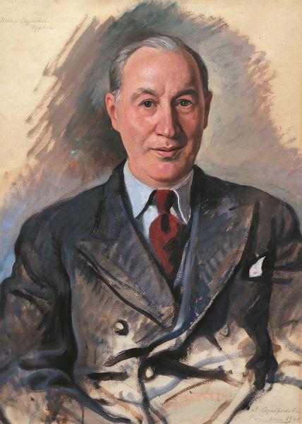 Портрет еврейского филантропа Иссара Самойловича Гурвича.